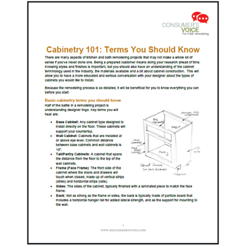 Learn The Lingo With Cabinetry 101